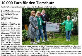 10.000 € Spende von Edelmetalle Hanauer