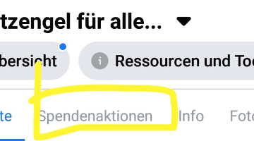 Spendenbutton auf Facebook