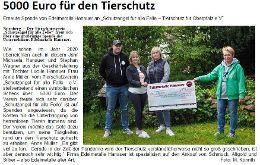 Spende der Firma Edelmetalle Hanauer